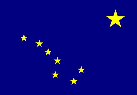 Le drapeau de l'Alaska