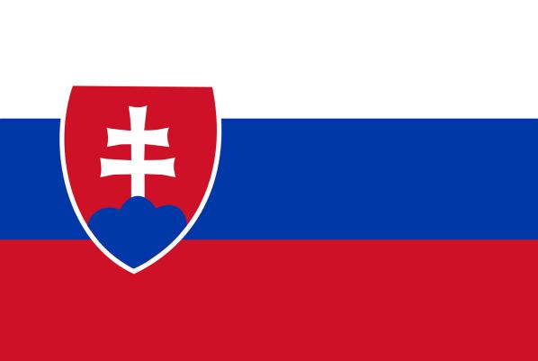 Le drapeau de la Slovaquie