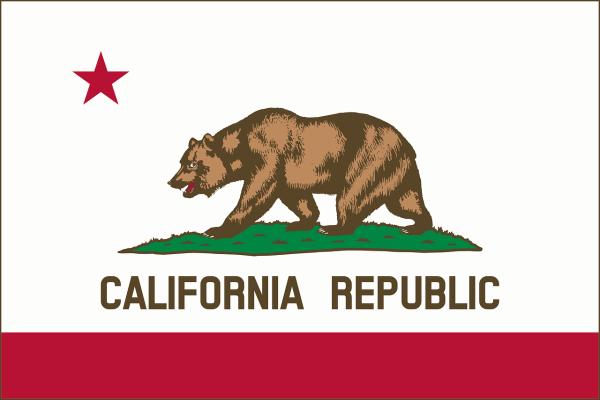Le drapeau de la Californie