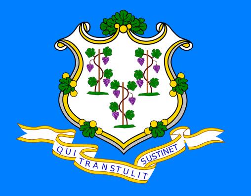 Le drapeau du Connecticut