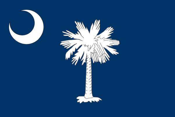 Le drapeau de la Caroline du Sud