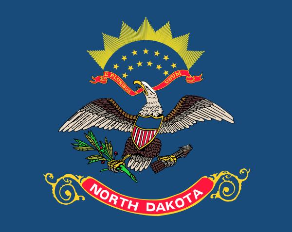Le drapeau du Dakota du Nord