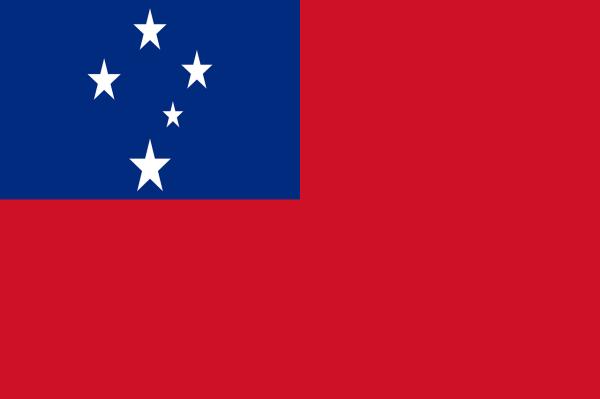 Le drapeau des Samoa