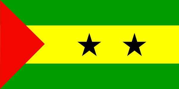 Le drapeau de Sao Tomé-et-Principe