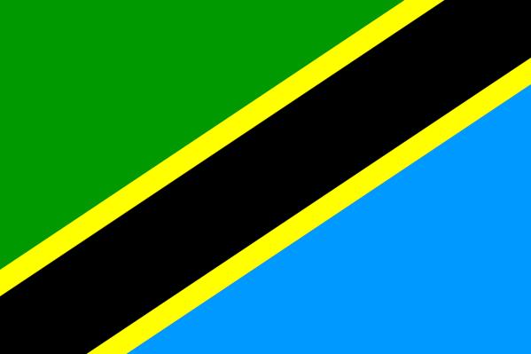 Le drapeau de la Tanzanie